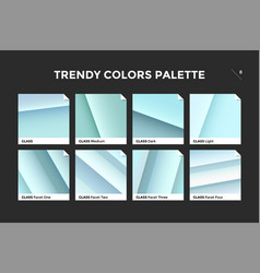 Glass facet gradient template icon vector