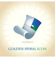 Golden Spiral Icon vector image vector image