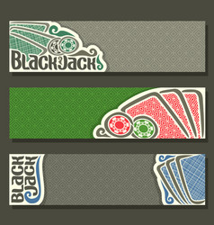 Horizontal banners of black jack for text vector