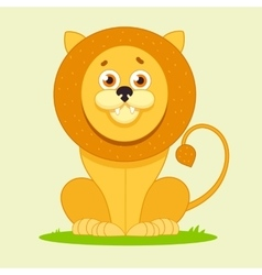 Lion sitting and smiling vector