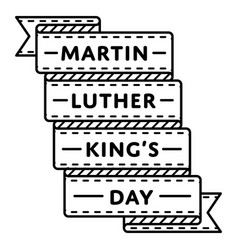 martin luther king day greeting emblem vector image