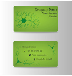 Neurosurgeon or brain doctor business card vector