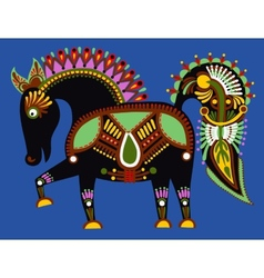 Original ukrainian tribal animal painting vector