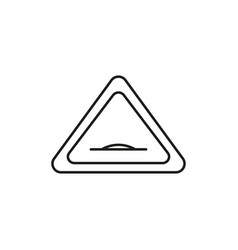 Road hump sign icon vector