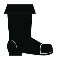 Rubber boot icon simple style vector