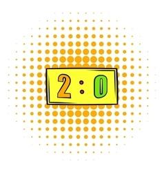 Score icon comics style vector