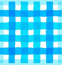 Stripe pattern gingham blue brush strokes vector