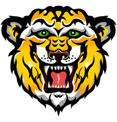 tiger head tattoo tribal vector image vector image