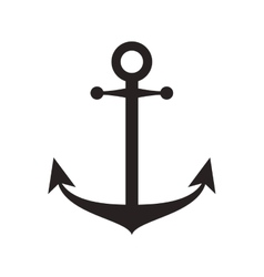 Anchor silhouette sea design vector