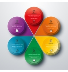 Infographic design with colored vector image