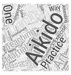 Aikido exercise teaching training word cloud vector