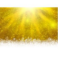 yellow winter backround vector image