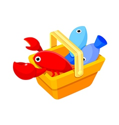 Icon seafood vector