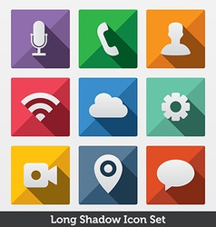 Long shadow icons vector
