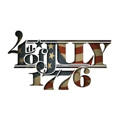 4th of july 1776 cut out vector