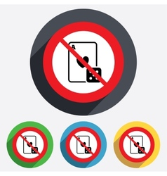 No casino sign icon playing card with dice vector