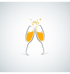 Champagne glass background vector