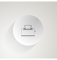 Flat icon for toaster vector