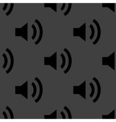 Speaker web icon flat design seamless pattern vector