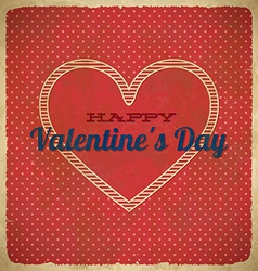 Valentines day card with polka dots vector