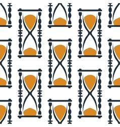 Vintage hourglasses or sandglasses seamless vector image