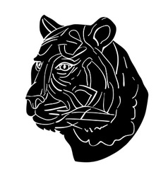 Tiger avatar vector