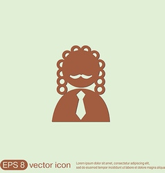 Judge icon avatar symbol of justice vector
