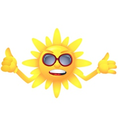 Sun with welcome summer vector