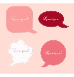 aged paper speech bubbles vector image