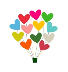 Air balloon with hearts for your design vector image