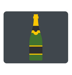 champagne bottle icon isolated vector image