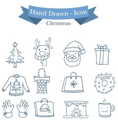 Collection of christmas icons set vector