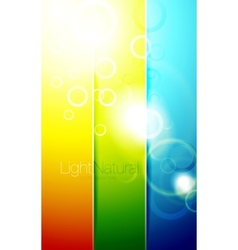 Colorful shiny banner backgrounds vector image vector image