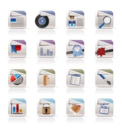 computer icons - file formats vector image vector image
