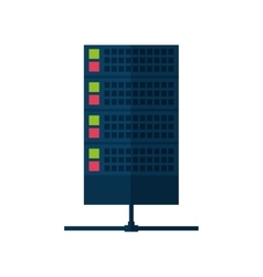 Data center tower communication technology vector