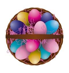 Easter Egg Basket vector image vector image