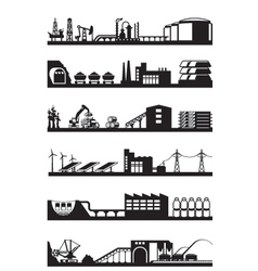 Extraction and processing of natural resources vector image vector image