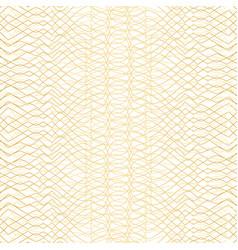 golden geometric pattern on white background vector image
