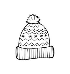 Hand-drawn caps vector