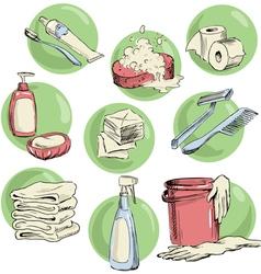 Hand-drawn hygiene elements vector