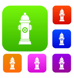 Hydrant set collection vector