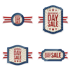 independence day festive labels set vector image