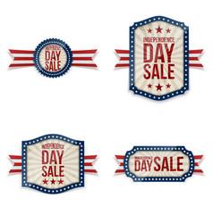 Independence day festive labels set vector