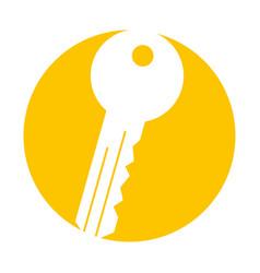Key room door icon vector