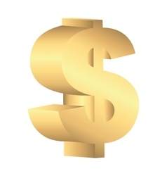 money symbol gold icon vector image