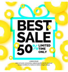 Original concept poster discount sale banner vector