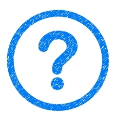 Question rounded icon rubber stamp vector