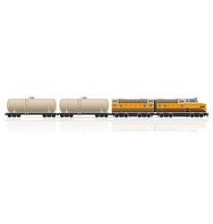 railway train 07 vector image vector image