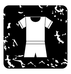 Sport uniform icon grunge style vector image vector image