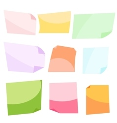 Sticky notes stationery clip vector